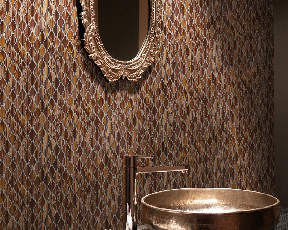 Brown Glass Mosaic Tiles for Bathroom