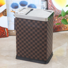 Stainless Steel Top with Ashtray Grid Design Waste Bin (GA-10LF)