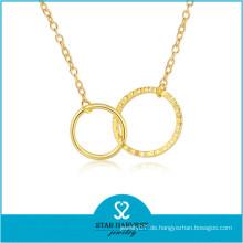 China Direct Hersteller Kugelkette Halskette in Gold plattiert (N-0297)