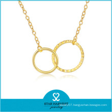 China Direct Manufacturer Ball Chain Necklace in Gold Plated (N-0297)