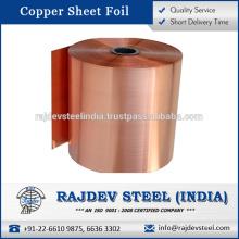 Proveedor indio de hoja de cobre Sellado a buen precio por kilogramo