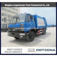 Caminhão de lixo de compactador de lixo Dongfeng 13cbm