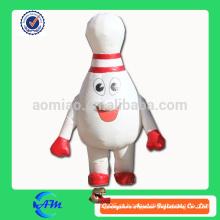 Bowling bola bowling pino inflável traje inflável traje para venda