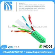 Green CAT6 SOLID BULK cat6 cable 24AWG 1000FT