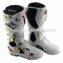 design de moda preto energético camurça alta tornozelo sapatos de motocross