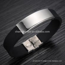 2015 nouvelle version coréenne de l'afflux de marchandises en titane en acier bracelet en silicone bracelet bracelet en cuir doux PH867