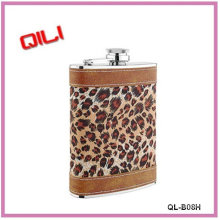 Colorful paint finish stainless steel hip flask vacuum flask