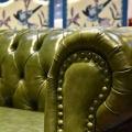 Chesterfield Ledersofa für europäischen Stil Modern Living Room