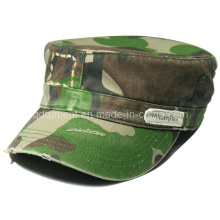 Grinding Washed Distressed Print Camouflage Army Military Cap (TRNM022)