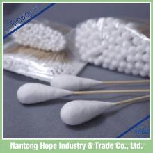 cotonete de algodão absorvente médico estéril