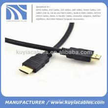 Black HDMI Cable Full 1080p 1.3V PVC Jacket