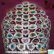 """12"""" rhinestone wholesale pageant crown for sale"""