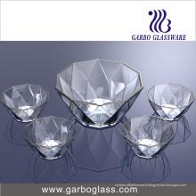 Bol de fruits en verre 5PCS Tz5-GB16040
