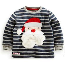 Camiseta de manga larga de impresión de tira de moda en la ropa de los niños