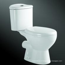 Toilette économiseuse d'eau de placard de l'eau de deux pièces de plancher en céramique