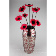 2016 Neuer Edelstahl-abstrakter moderner Blumen-Vase bildete in China
