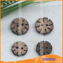 Boutons de noix de coco naturels pour vêtement BN8096