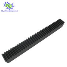 Rack de engranajes rectos M1 con óxido negro en stock