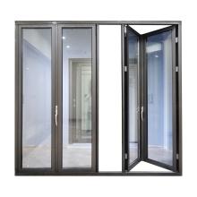 WANJIA Sound proof tempered glass exterior folding doors aluminum doors