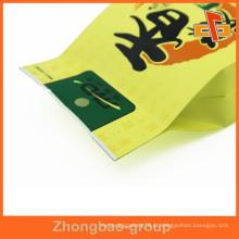 CMYK Printing Gusset lateral 4 bolsa de plástico selado saco para feijão / Snack Packaging