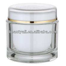 200 мл круглый косметический прозрачный акриловый Jar Оптовая