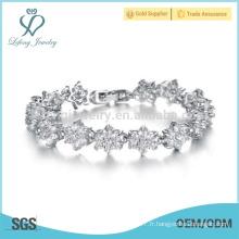 Bracelet en argent en cristal pour dames, bracelets en diamant pour femmes