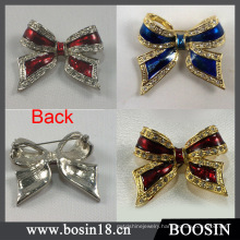 3 Colors Rhinestones Bow Brooch Wholesale