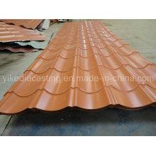 Hoja de cubierta de acero corrugado galvanizado PPGI 828model
