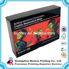 Высокое качество пользовательские печать черный картонные коробки