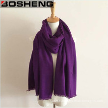 Winter Warm Purple Long Thick Wool Shawl Large Scarf