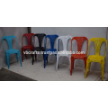 vintage industrial restaurant colorful antique finish chair