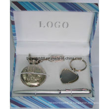 Presente de relógio de bolso com pingente de chave