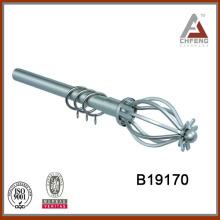 B19170 home decorative hardware curtain pole,metal curtain rod set,iron curtain rod finial