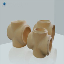 Yellow refractory AL2O3 casting  ceramic  pipes