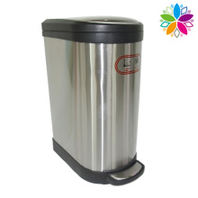 Household Stainless Steel Slow Down Close Foot Pedal Bin (A5-SB-10L)