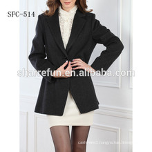 Ladies' formal 100% pure cashmere fabric coat from China