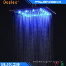 Douche carrée luxueuse de tête de lumière de l'eau de 12 pouces de luxe