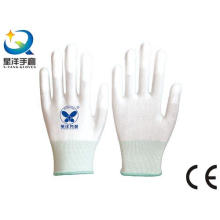 ESD Gloves with Finger Tip PU Coated Safety Work Gloves (PU1007)