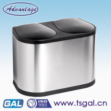 Stainless steel electronic garbage can