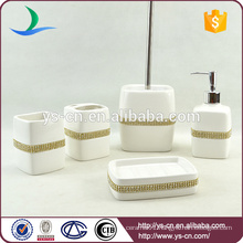 Ceramic Wholesale china bathroom accessory with diamond