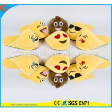 Comfortable Fashion Popular Winter Warm Indoor Soft Plush Emoji Slipper Without Heel