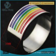 Anéis de casamento de prata dos pares do homossexual, anéis bonitos baratos da promessa do casamento do casal gay