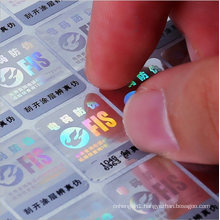 Custom Made Serial Number Hologram Sticker Anti-Fake Label with Barcode Numbers