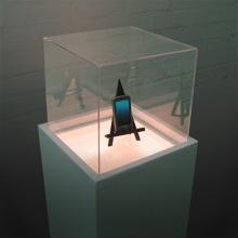 Iluminado caja de luz para la exhibición del teléfono móvil, caja de acrílico de Gleamy
