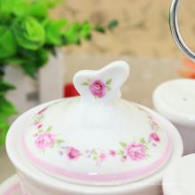 Juego de té árabe de esmalte de diferentes capacidades disponibles