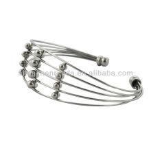 Clásicos de acero inoxidable de cuentas brazalete pulseras de moda al por mayor de las mujeres de moda pulseras brazaletes joyas fabricante