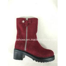 Komfort Winter Leder Warm Schnee Frauen Stiefel