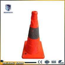 Hot sale easy folding reflective PVC road cone