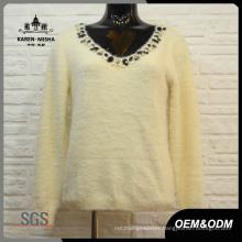 Women Warm Sparkle V-Neck Sweater