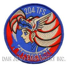 100 % 204TFS Mystic Eagle Cartoon Embroidered Patches